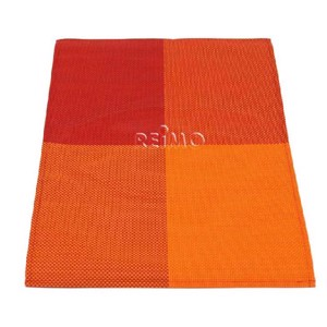 Table doily set of 2, 30x45cm, orange/red