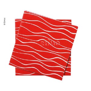 Napkins, red, 165x165mm, 20 pieces