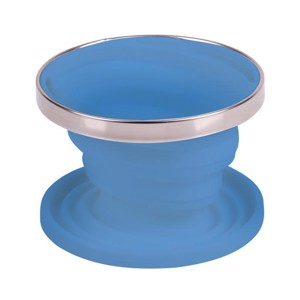 Silicone coffee filter holder, foldable, Ø11cm, light blue