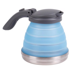 Silicone kettle, foldable, capacity ca.0,8l, blue