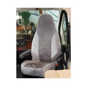 Seat cover Universal Alcatraz Velour Back height 83.5 h grey/anthracite