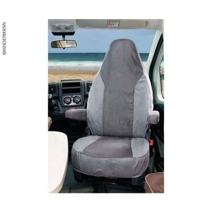 Aguti seat cover, light grey/anthracite, Alcatraz velour, 2 pieces
