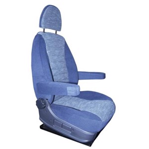 Seat cover universal blue/grey