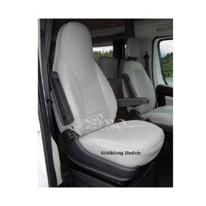 Seat cover microfibre, grey incl. headrest