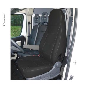 Ducato seat cover, anthracite, imitation leather