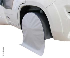 "Wheel arch cover light grey/dark grey, e.g. RM 17""."