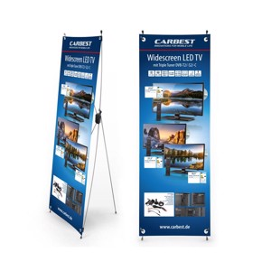 Carbest X-Banner - Motive: TV, German, Size: 60x180cm