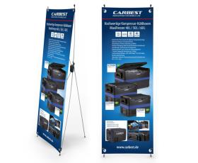 Carbest X-Banner - Heavy Duty Coolboxes, German, Size: 60x180cm
