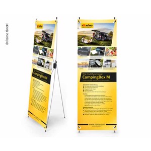 X-Banner - Motive: Reimo Campingbox M, English, Size: 60x180cm