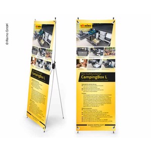X-Banner - Motive: Reimo Campingbox L, English, Size: 60x180cm