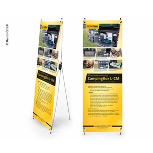 X-Banner - Motive: Reimo Campingbox L-CM, English, Size: 60x180cm
