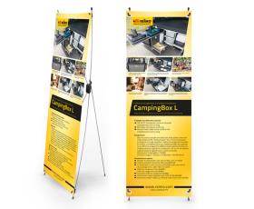 X-Banner - Motive: Reimo Campingbox L, French, Size: 60x180cm