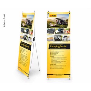 X-Banner - Motive: Reimo Campingbox M, German, Size: 60x180cm