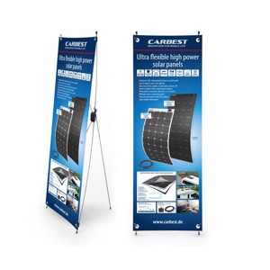 Carbest X-Banner - Motive: Solarpanel, English, Size: 60x180cm
