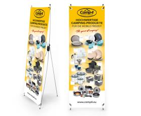 Camp4 X-Banner household products, size: 600x1800mm