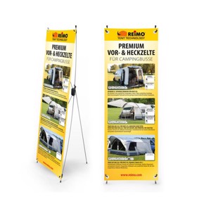 Reimo Tent Techn. X-Banner air tent for camping busses, size: 600x1800mm
