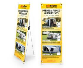 Tent Tec.X banner air tent for camping busses English, size: 600x1800mm