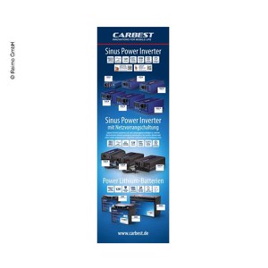 Carbest X-Banner-Motif:Inverter,Lithium battery,German,Size:60x180cm