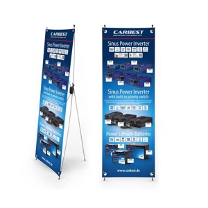 Carbest X-Banner-Motif:Inverter,Lithium battery,English,Size:60x180cm