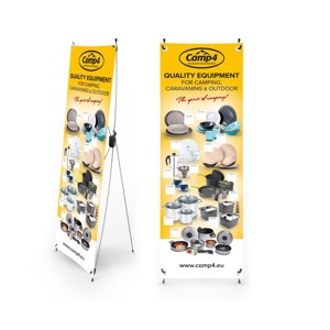 Camp4 X-Banner household products, English, size: 600x1800mm