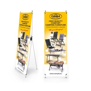 Camp4 X-Banner camping furniture for motorhomes & caravans, English