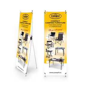 Camp4 X-Banner compact camping furniture for busses, English