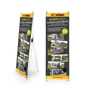 X-Banner Outdoor Revolution tents DE, size: 600x1800mm