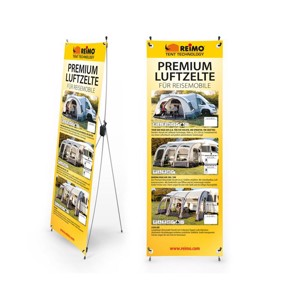 RTent Techn. X-Banner tents for motorhomes, German, size: 600x1800mm