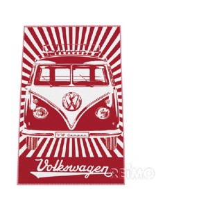 VWColl.beach towel red
