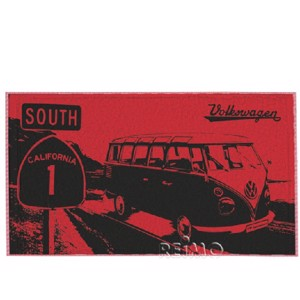 VWColl.beach towel red/sh