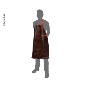 HOLIDAY TRAVEL Grill apron, brown, leather