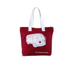 VW Collection Canvas Shopper Bag rot, 40 x 35 x 10 cm