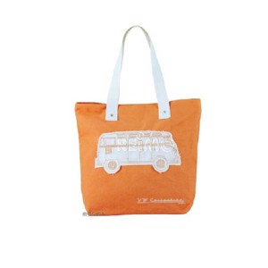 VW Collection Canvas Shopper Bag orange, 40 x 35 x 10 cm