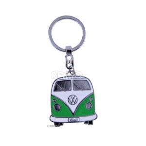 VW Collection key fob green, Bulli-Front-Design, 1pc.