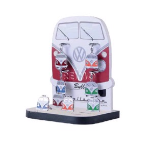VW Collection Keychain, Bulli-Front-Design, 12 pcs. in 4 colours