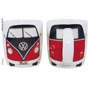 VW collection coffee cup VW Bulli black/red, filling capacity 400ml