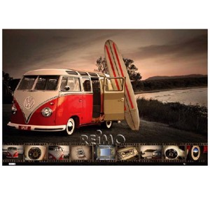20 Maxi-Poster VW Collection: VW Bus Surfboard