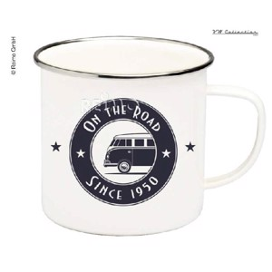 "VW Collection Enamel Cups ""ON THE ROAD"", Capacity 500ml, Height 8,5cm"