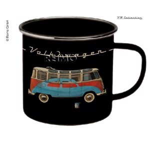 VW Collection enamel cups, black