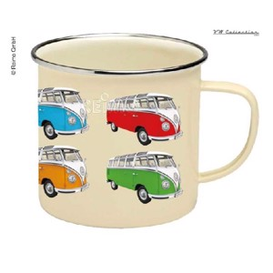 VW Collection Enamel Cups, Beige