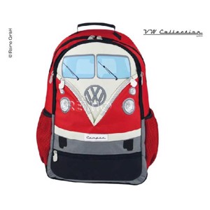 VW Collection backpack, red, 43x37x13cm, polyester fabric