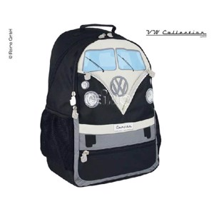 VW Collection Backpack black 43x37x13cm polyester fabric