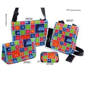 VW Collection shoulder bag small, high, colorful, neoprene, 28x23x6cm