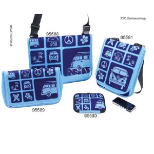 VW Collection shoulder bag, crosswise, Sufer style, blue, neoprene, 28x27x10cm