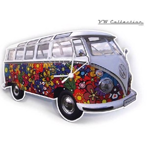 VW Collection wall clock Flower