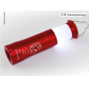 Camping Flashlight, VW Collection Flashlight, red-aluminium