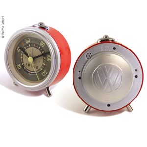 VW Collection Bulli alarm clock TACHO, red, quartz movement, alarm function