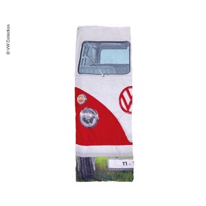 Camping Sleeping Bag, VW Collection VW T1, 180x75cm, red