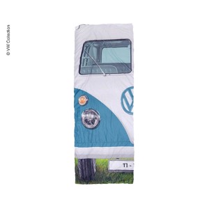 Camping Sleeping Bag, VW Collection VW T1, 180x75cm, blue