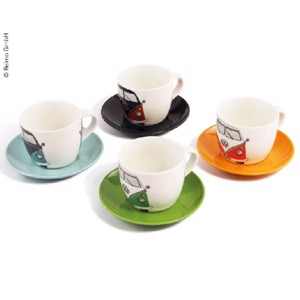 VW Collection Espresso Cups, set of 4, Bulli front